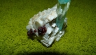 Aquamarine crystal combined with garnet from Shigar Valley-Skardu.